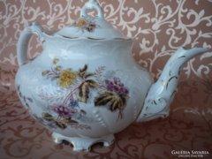 Antik, porcelán teás kanna