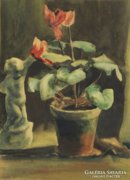 Magyar festő, 20. század : Csendélet szoborral