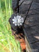 Brillcsiszolású cirkonköves 925 ezüst gyűrű ezüstgyűrű