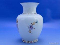0B972 Régi virágos Hollóházi porcelán váza