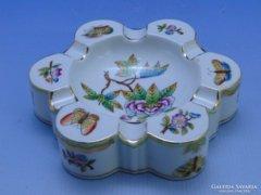 0C497 Herendi viktória mintás porcelán hamutál
