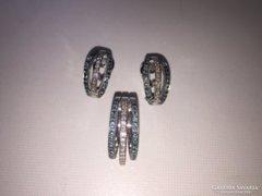 Brill csiszolású színes gyémánt garnítúra
