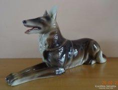 Márkás porcelán, gyünyörű kézifestésű farkas kutya német juh