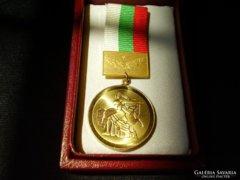 Bulgária 1300 éves jubileumi kitüntetés,eredeti dobozában!