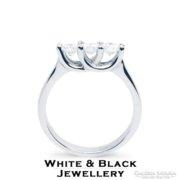 KEDVEZMÉNYES Gyémánt eljegyzési gyűrű, fehérarany - Új
