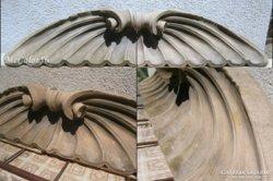 Zsolnay pirogránit szárny pár épület dísz