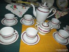 Antik Csehszlovák Olympia porcelán kávés készlet