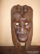 Régi, faragott indián maszk