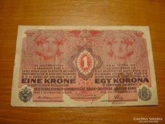 *** Bélyegzés nélküli 1916 os 1 korona ***