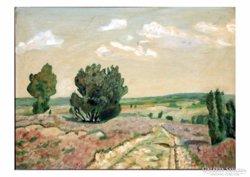 Délvidéki táj, német festő