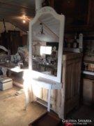 Provence bútor, fehér antikolt álló tükör szecessziós 3.