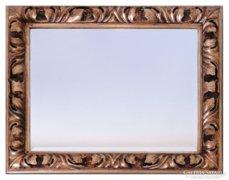 0C753 Antik aranyozott hibátlan barokk tükör