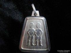 Nagyon régi ezüst medál IKER HOROSZKOP