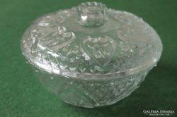 Art Deco öntött üveg bonbon tartó