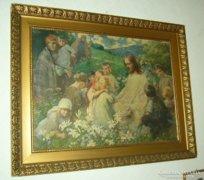 Bibliai jelenet blondel keretben