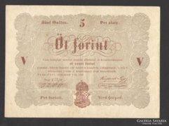 5 forint 1848. EXTRÉM ALACSONY SORSZÁM!!! (VF+++)!!!