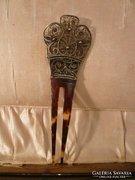 Ezüst filigrán antik hajtű / hajdísz