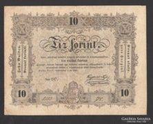 10 forint 1848. EF !!!  EGYSZER HAJTOTT!!! NAGYON SZÉP!!!