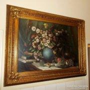 Nagyon jó kvalitású ,nagyméretű ,antik Biedermeier festmény!
