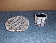 Tófej, iparművész cigarettázó szett (3) (4/d)