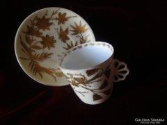 SZECESSZIÓS ALTWIEN csésze aljjal kézi arany festés WIEN