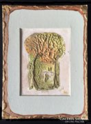 20ct.aranyfüsttel kombinált miniatúra.Károlyfi Zsófia műve