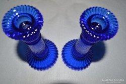 Kék gyertyatartók