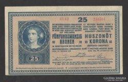 25 korona 1918.  (EF+++)!!!  EXTRA SZÉP!!!