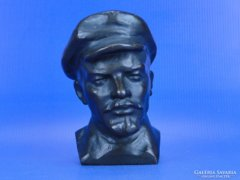 0D236 Régi bronzírozott bronz Lenin mellszobor
