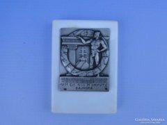 0D693 Antik sportdíj sportplakett ezüstből 1931