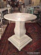 Provence fehér antikolt kör alakú dohányzóasztal 06.