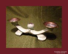 Csodás 2 ágú gyertyatartó,porcelán