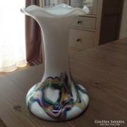 Régi muránói laktacid üveg váza