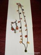 Bizsu nyaklánc karkötővel
