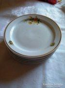 6 db sárga rózsás Zsolnay süteményes tányér