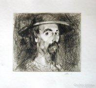 Szász Endre - Don Quijote rézkarc