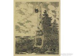 Peche, Ernst : Útszéli feszület 1920