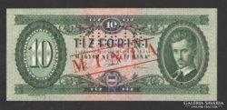 10 forint 1957.  MINTA!!!  RITKA !!! UNC !!!