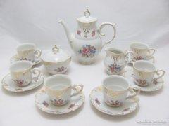 Hollóházi kávés készlet (Szf-BI22833)