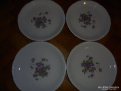 4darab ibolyás tányér
