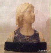 Goldscheider-Wien,Alabástrom-márvány büszt,