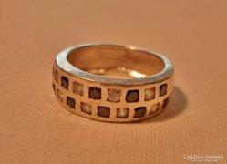 Gyönyörű régi ezüstgyűrű zafír és topáz kövekkel
