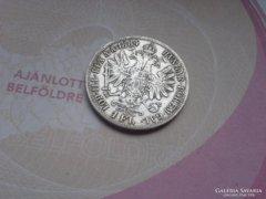 Ezüst 1 Florin 1884 ritkább szép db!!