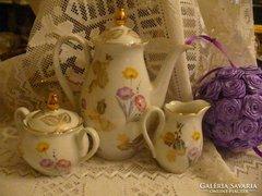 3 részes BAVARIA porcelán kávés