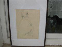 Koszta Rozália eredeti, 1956-ban készült ceruzarajza