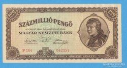 Százmillió pengő 1946.   UNC!