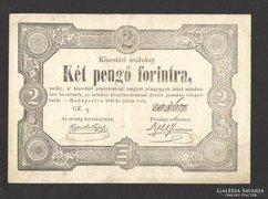 Két pengő forintra 1849. NAGYON SZÉP!