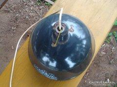 Szarvasi fekete zománcozott ipari lámpa