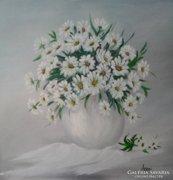 Margaréták - festmény,csendélet