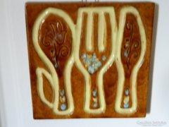 Retro kerámia konyhai falikép